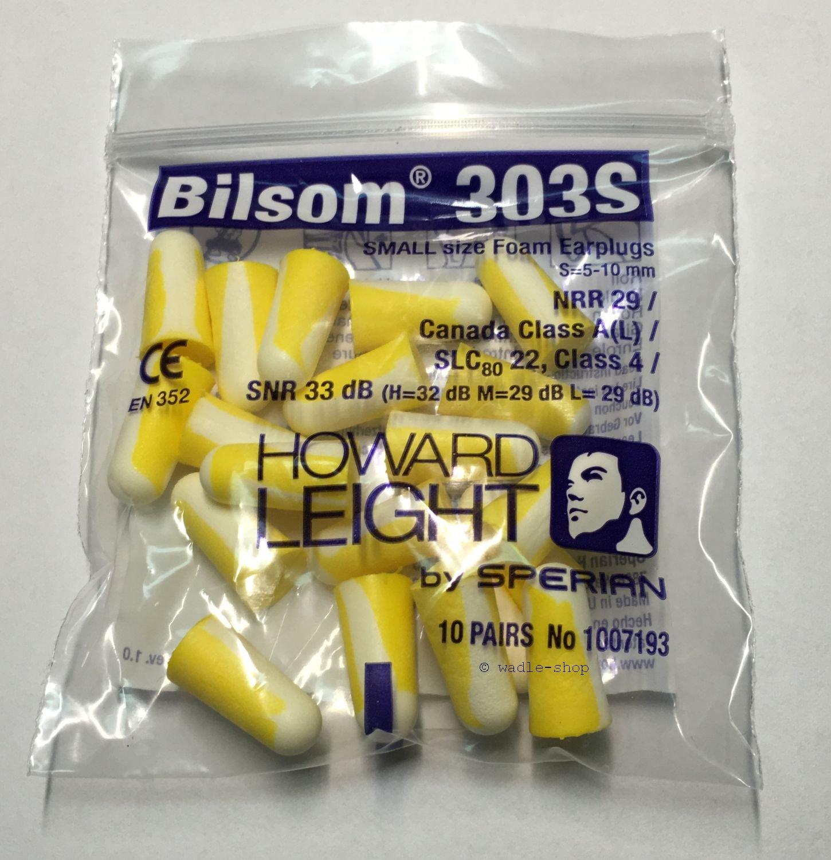 Bilsom 303S, 3 x 20 bouchons d'oreille, dans trois sacs de œ il de boutique 3x 20bouchons d' oreille dans trois sacs de œ il de boutique Howard Leight