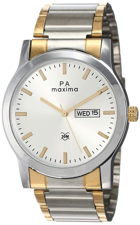 Maxima Attivo Day-Date Silver Dial MEN -O-46932CMGT