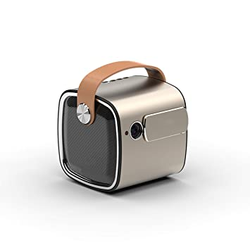 LIANGJING Mini proyector móvil Inicio pequeño portátil ...