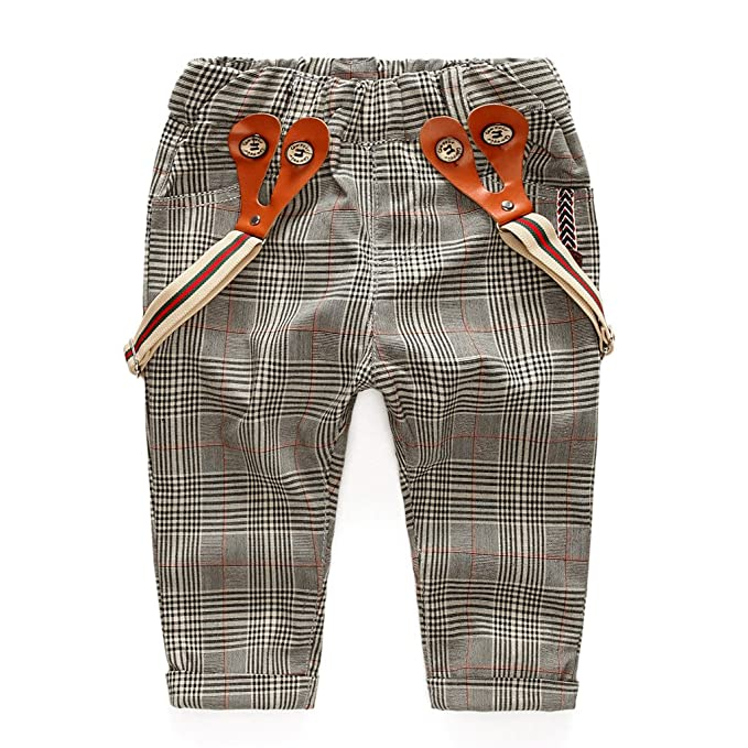 1920s Children Fashions: Girls, Boys, Baby Costumes Coodebear Baby Boys 100% Cotton Casual Lattice Casual Suspenders Bib Pants $19.98 AT vintagedancer.com