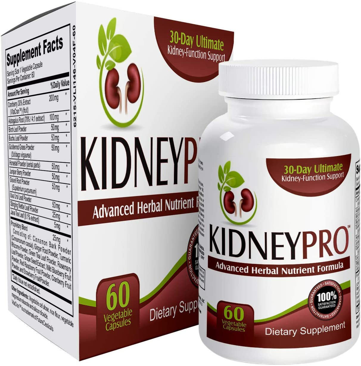 Kidney-Pro All-in-1 with 21 Kidney Support Supplements – Kidney Health Supplement Pills – Kidney Cleanse – 60 Capsules