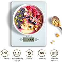 Digital Kitchen Scale, HAMSWAN VKS314 Multifunctional & Electric Food Scale, Ultra-Slim, Easy to Clean, 4 Units, 11lb 5kg, for Home Baking/Diet Cooking