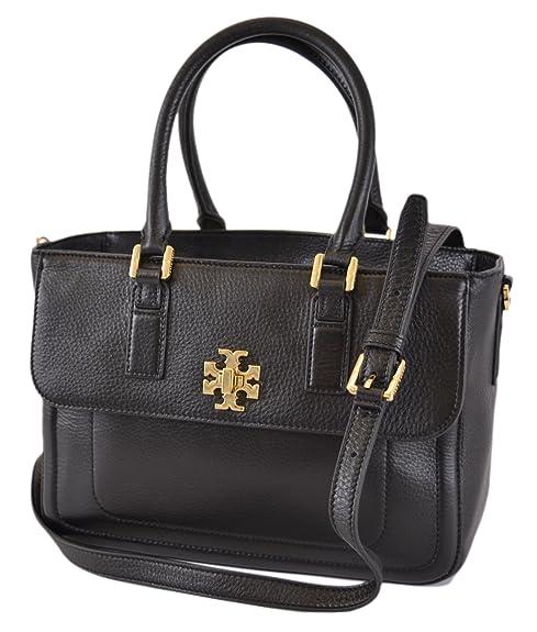5837ac48059e Amazon.com  Tory Burch Black Leather Mini Mercer Convertible Handbag Purse   Shoes