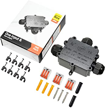 Caja Conexiones Cables Eléctricos Exterior Conector Cable Ip68 3 ...
