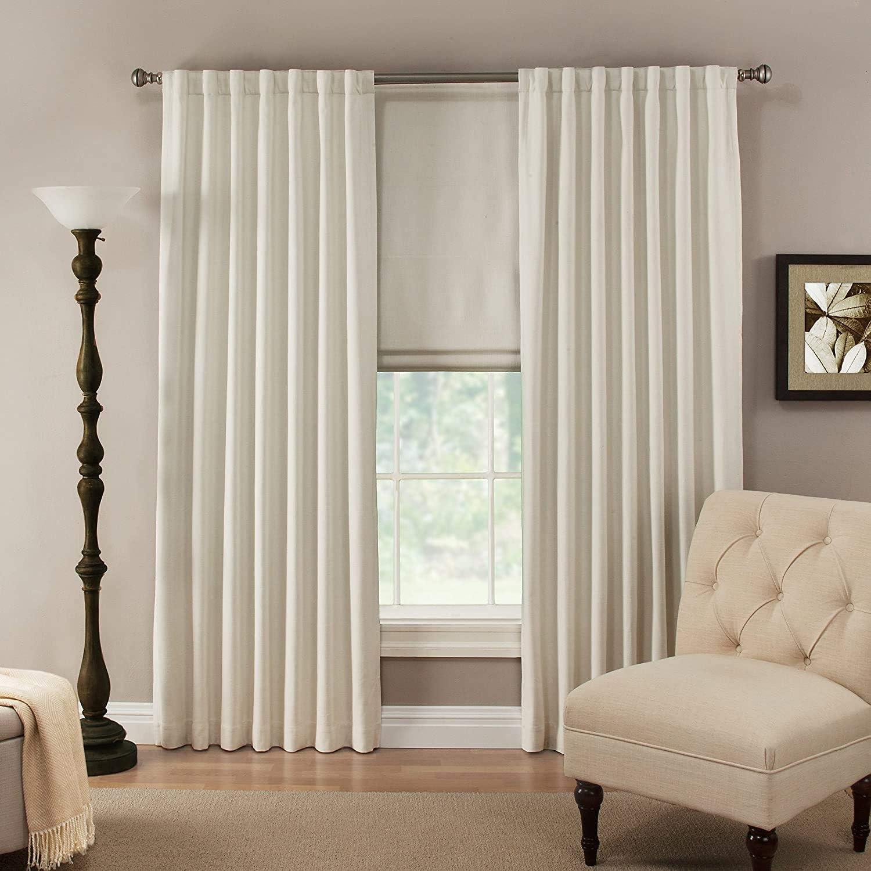 -Linen /& Polyester-Cordless Furniture Fresh Flat Roman Shades-Blackout Thermal- 30 W x 72 L, Stone