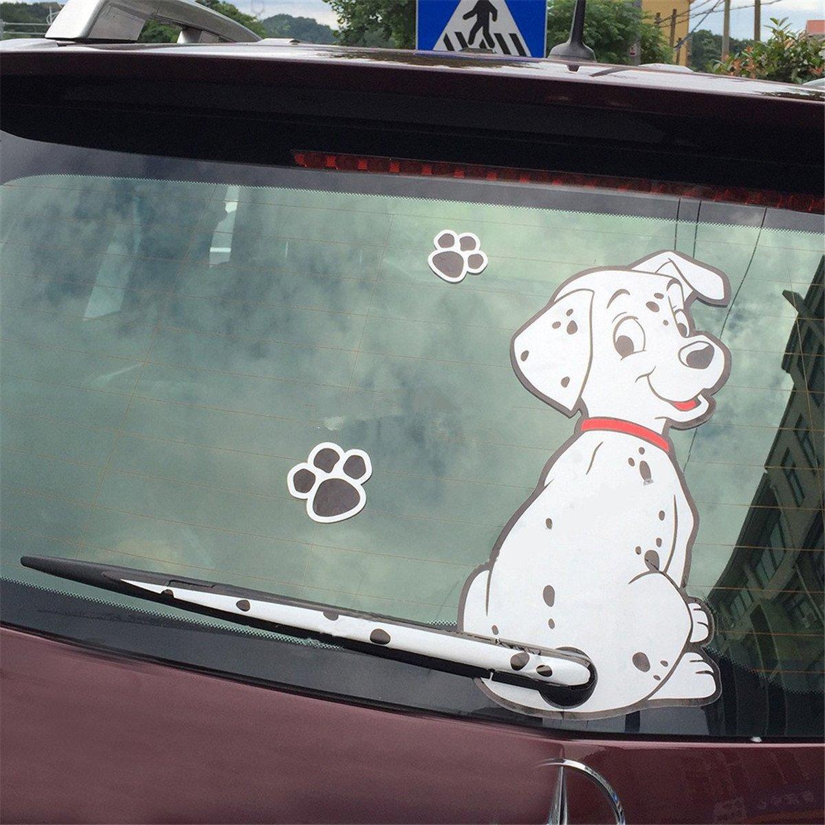 Amazon com fochutech car auto body sticker spot dog rear windshield window wiper self adhesive side truck vinyl graphics decals black automotive