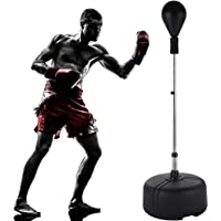 shaofu Free Standing Punching Bag Reflex Bag Cobra Bag Boxing Bag with Stand for Adults Kids (US Stock)