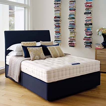 Hypnos clásico con colchón de lana | Soak & Sleep, tela, beige, King