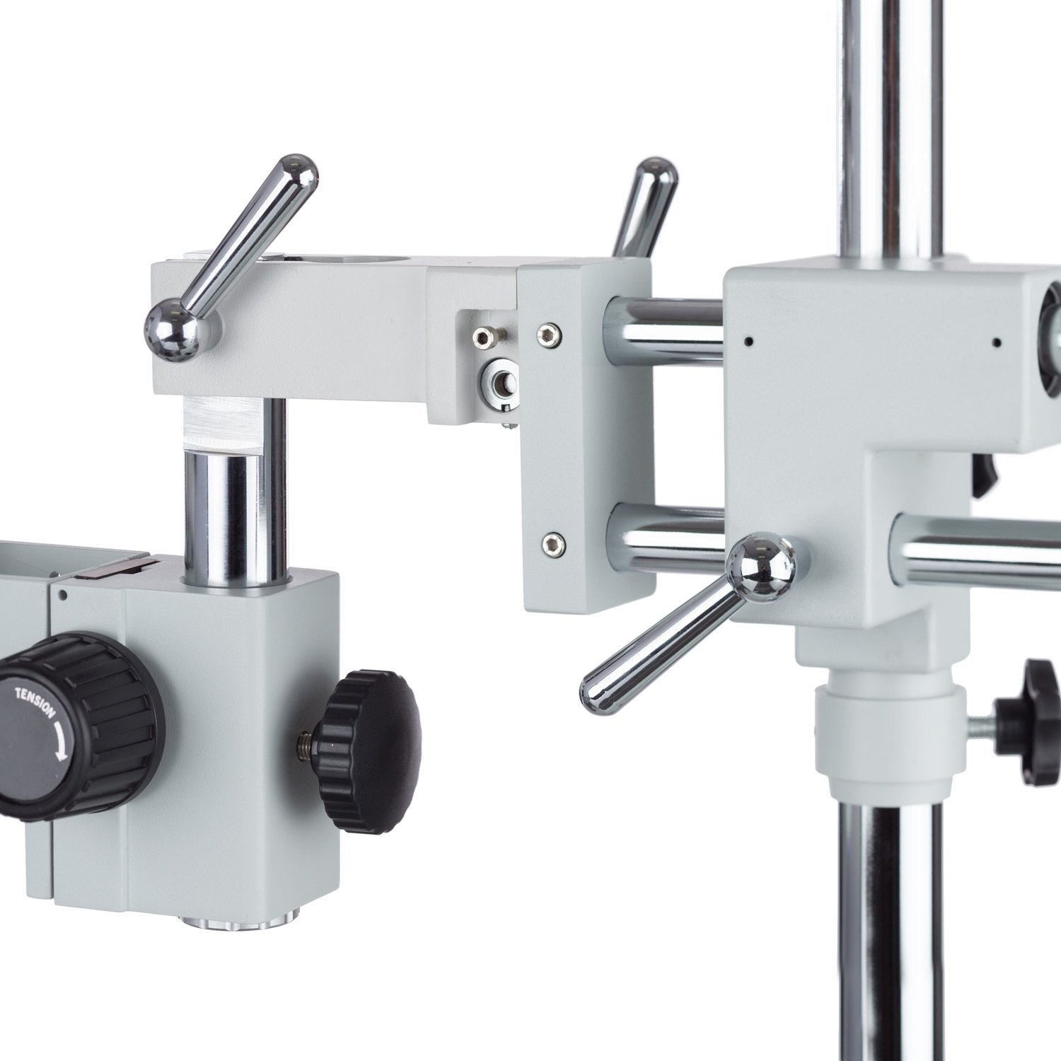 AmScope 7X-45X Simul-Focal Stereo Lockable Zoom Microscope on Dual Arm Boom Stand by AmScope (Image #3)