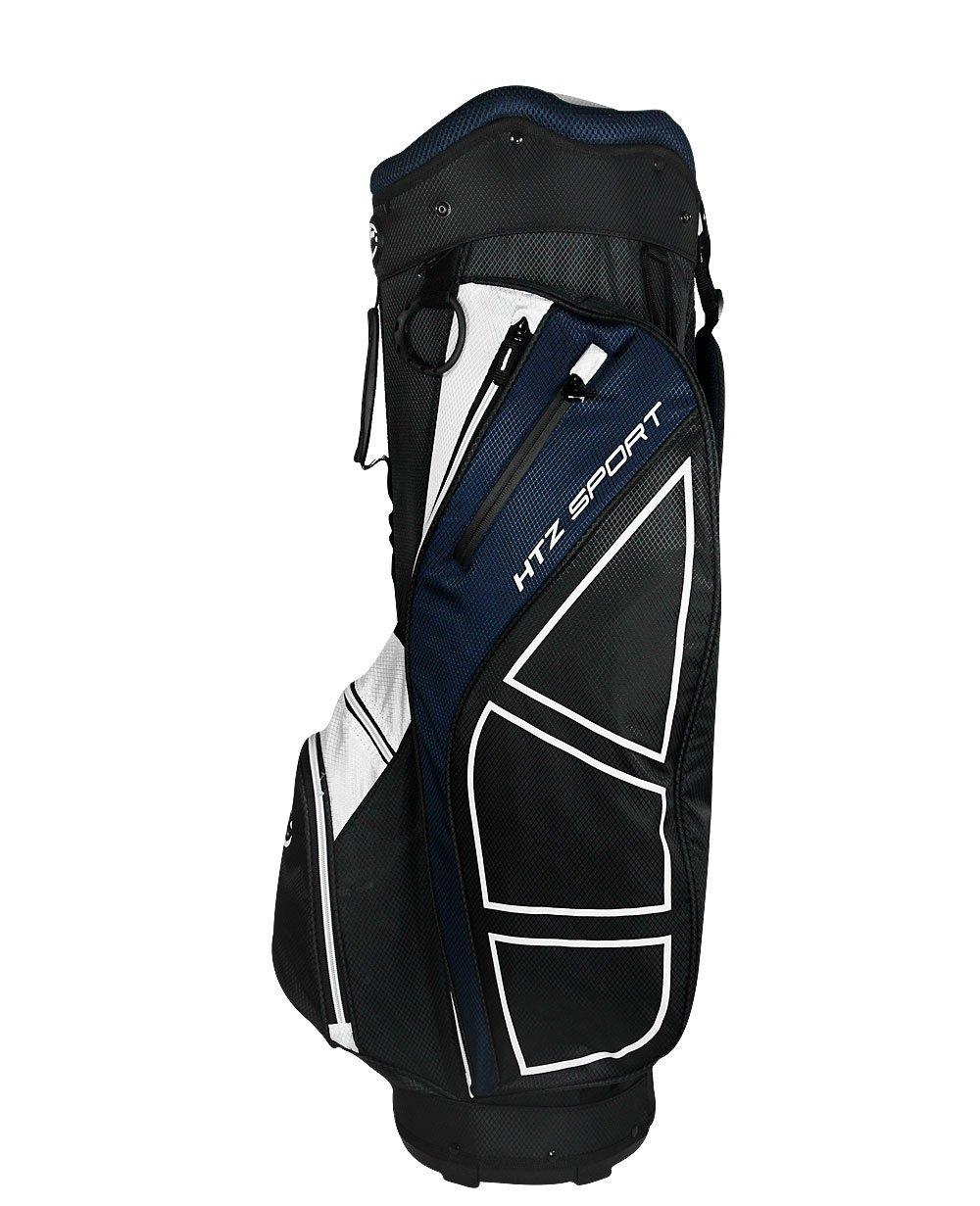 Hot-Z Golf Sport Cart Bag, Black/Navy/White