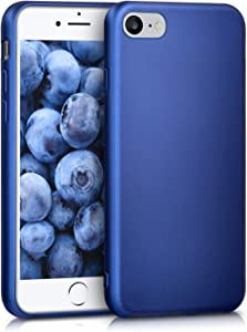 kwmobile TPU Case Compatible with Apple iPhone 7/8 / SE (2020) - Soft Thin Slim Smooth Flexible Protective Phone Cover - Metallic Blue