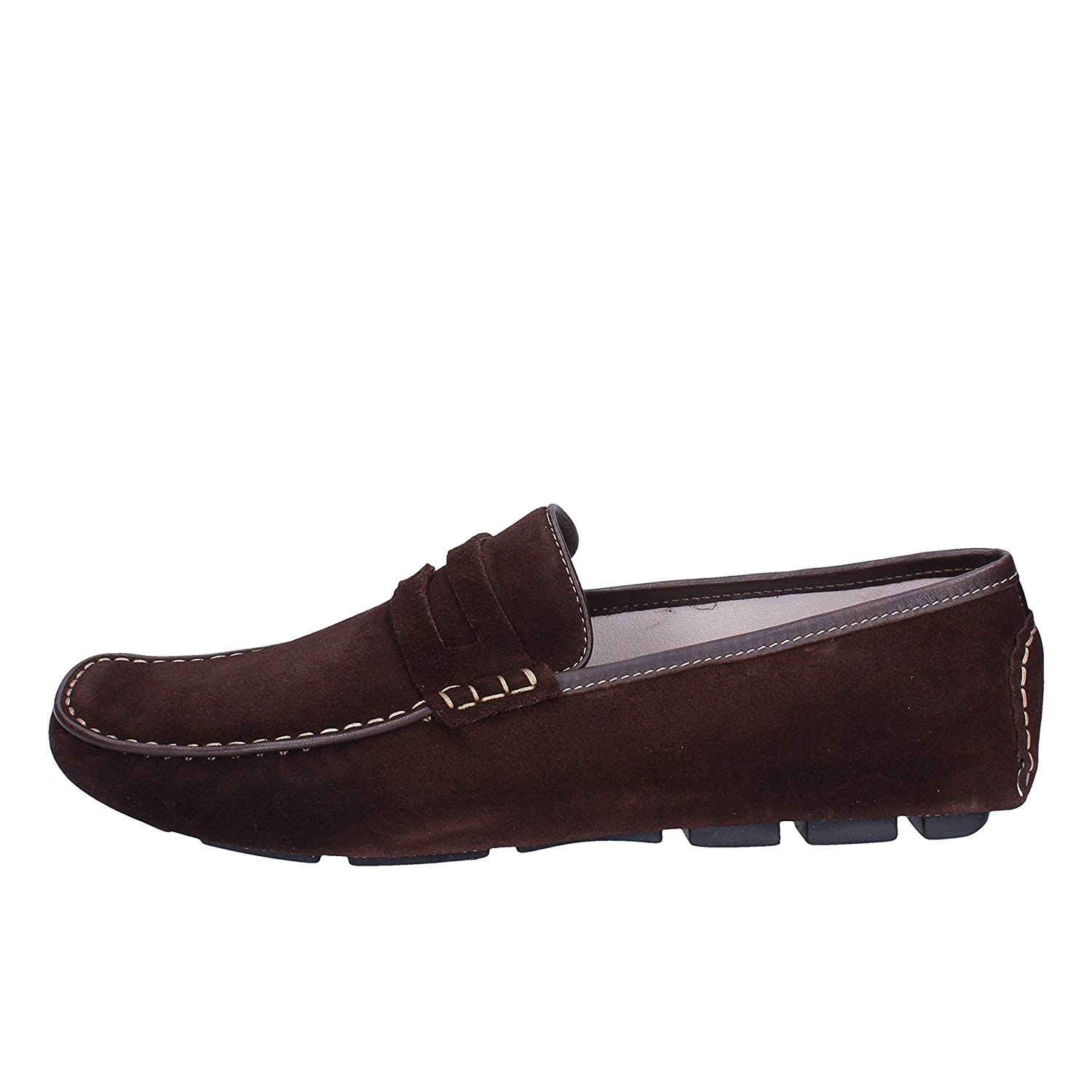 ROSSINI Loafers-Shoes Mens Suede Brown