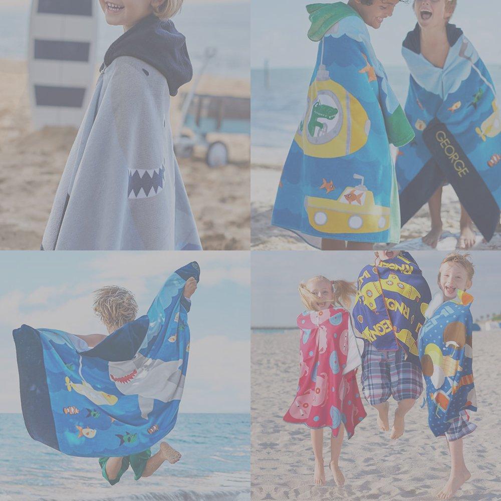 Xplanet Toddler Beach Bath Towel, Multi-use for Hooded Poncho Swim Beach Pool Poncho Bath Towel, Home Bath Robe for Kids Child 2-7 Years Boy&Girls by Xplanet (Image #7)