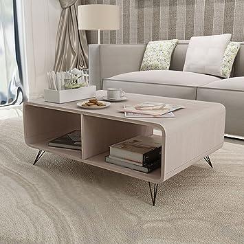VidaXL Couchtisch Holz Wohnzimmertisch Kaffeetisch Beistelltisch Sofatisch Tisch Grau