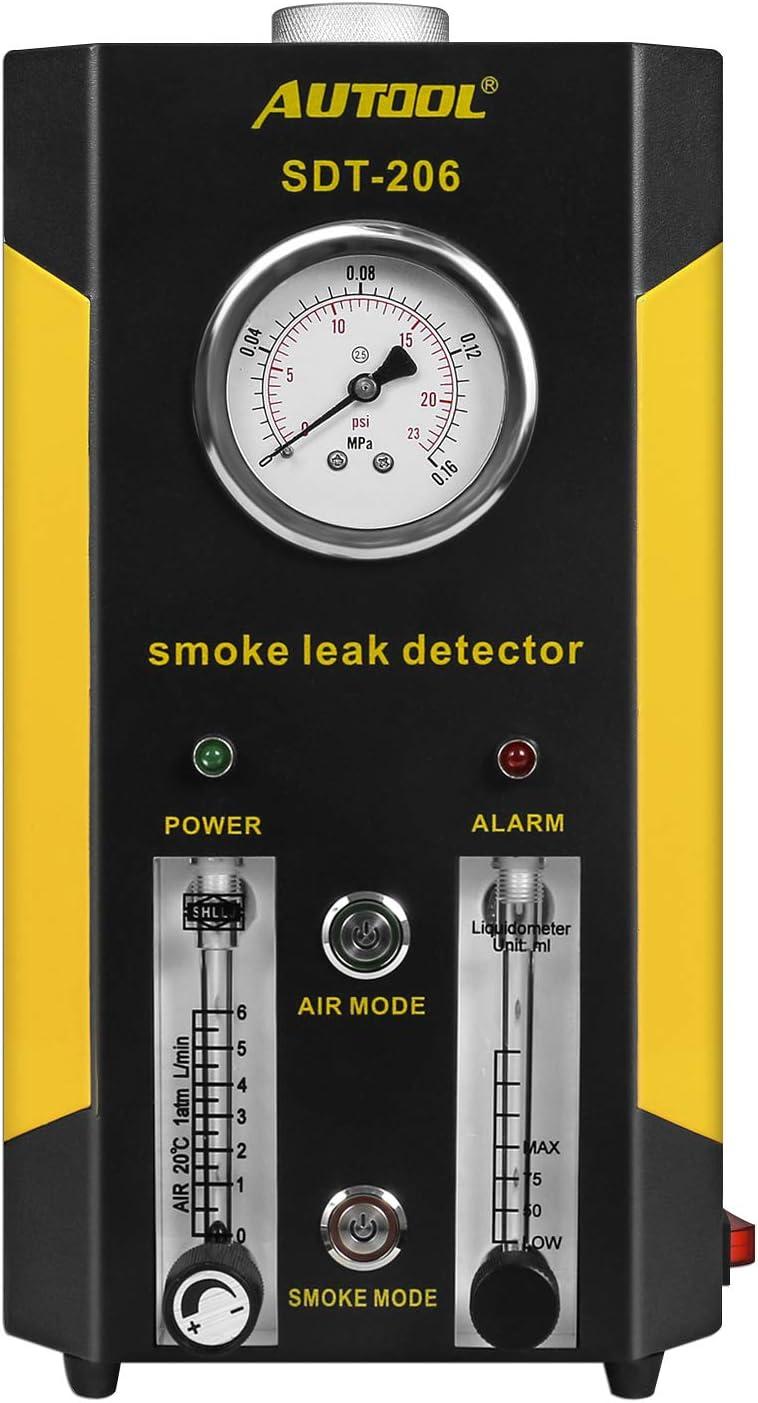 AUTOOL SDT 206 Testeur de diagnostic de fuite de carburant des v/éhicules /à moteur 2 MODES D/étecteur de fuite de carburant du syst/ème de canalisation de tuyau de conduite de voiture