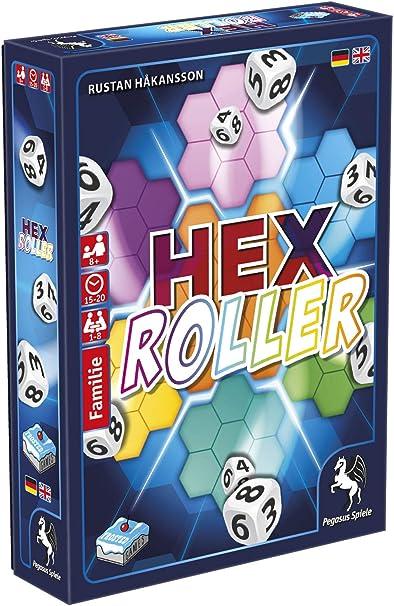Pegasus Spiele 18329G HexRoller - Juego de Mesa (Contenido en alemán): Amazon.es: Juguetes y juegos