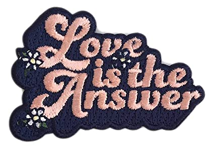 801635d974e Amazon.com  Love is The Answer Iron On Patch Decorative 70s Inspire ...