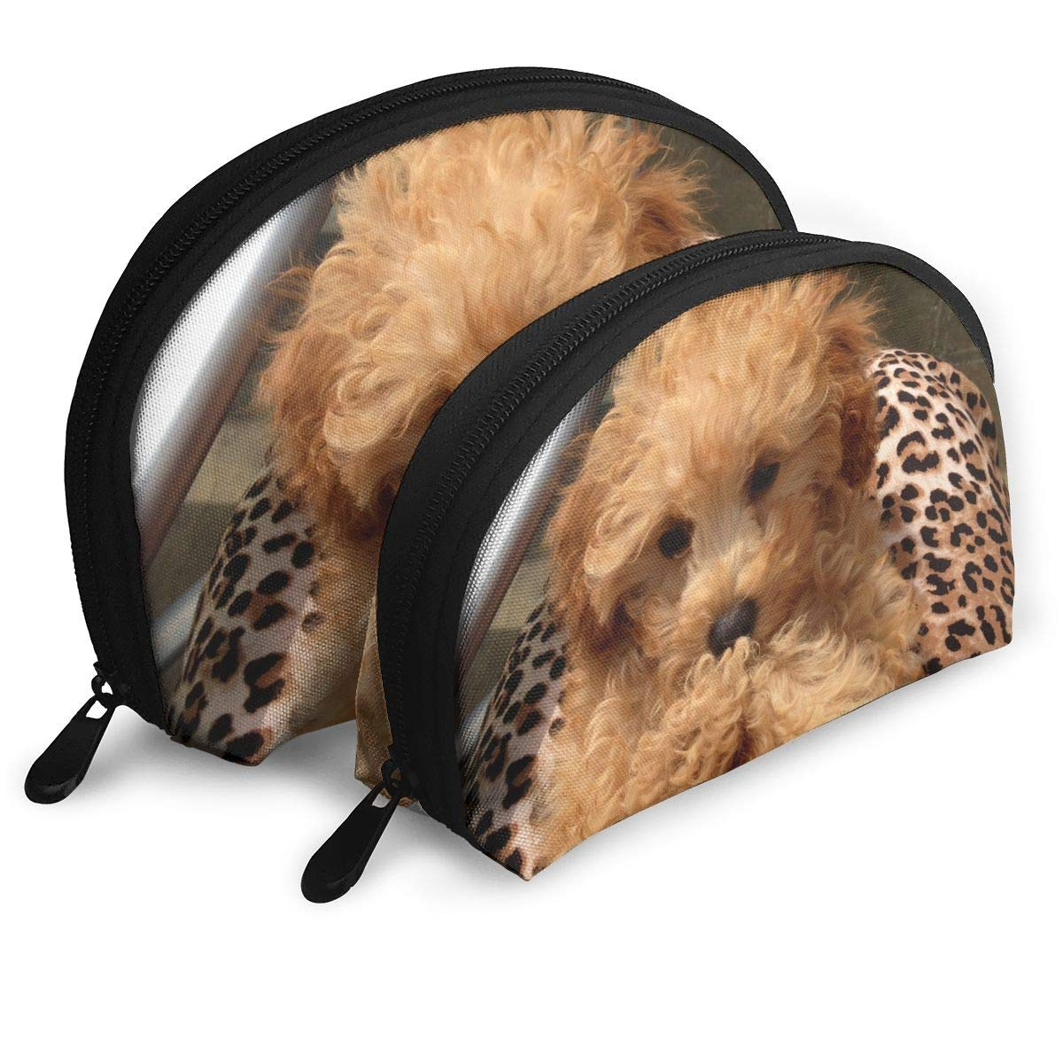 Poodle Travel Makeup Bag