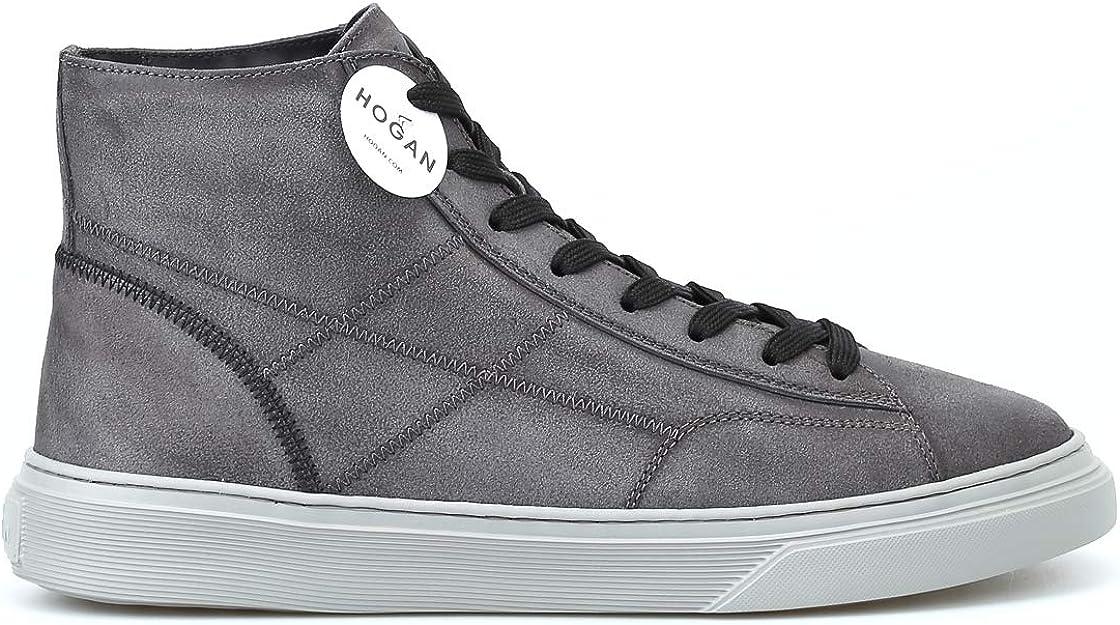 Hogan Sneaker Alte H365 in Crosta con Impunture, 9.5: Amazon.it ...