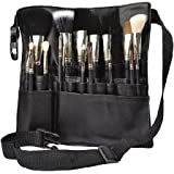 Hotrose® 22 Pockets Professional Cosmetic Makeup Brush Bag with Artist Belt Strap for Women