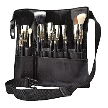 df66a4ad96c0 Hotrose 22 Pockets Professional Cosmetic Makeup Brush Bag with Artist Belt  Strap for Women ( Brush...