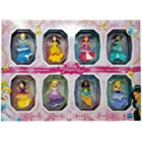 Disney Princesses Sparkling Styles Small Doll Set of 8 Featuring Royal Clips