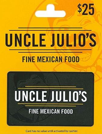 Amazon.com: Tarjeta de regalo de Uncle Julio: Tarjetas de regalo