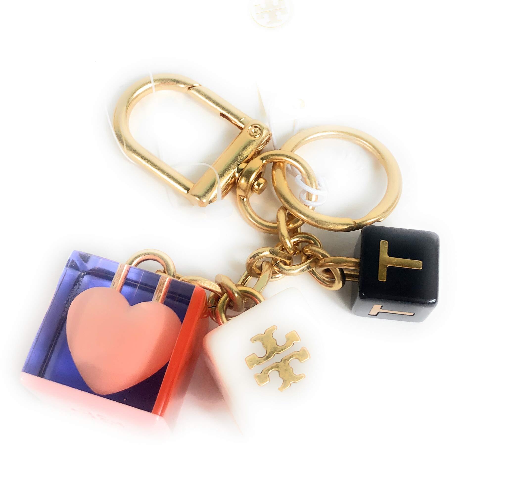 Tory Burch Logo Heart Key Ring Key FOB