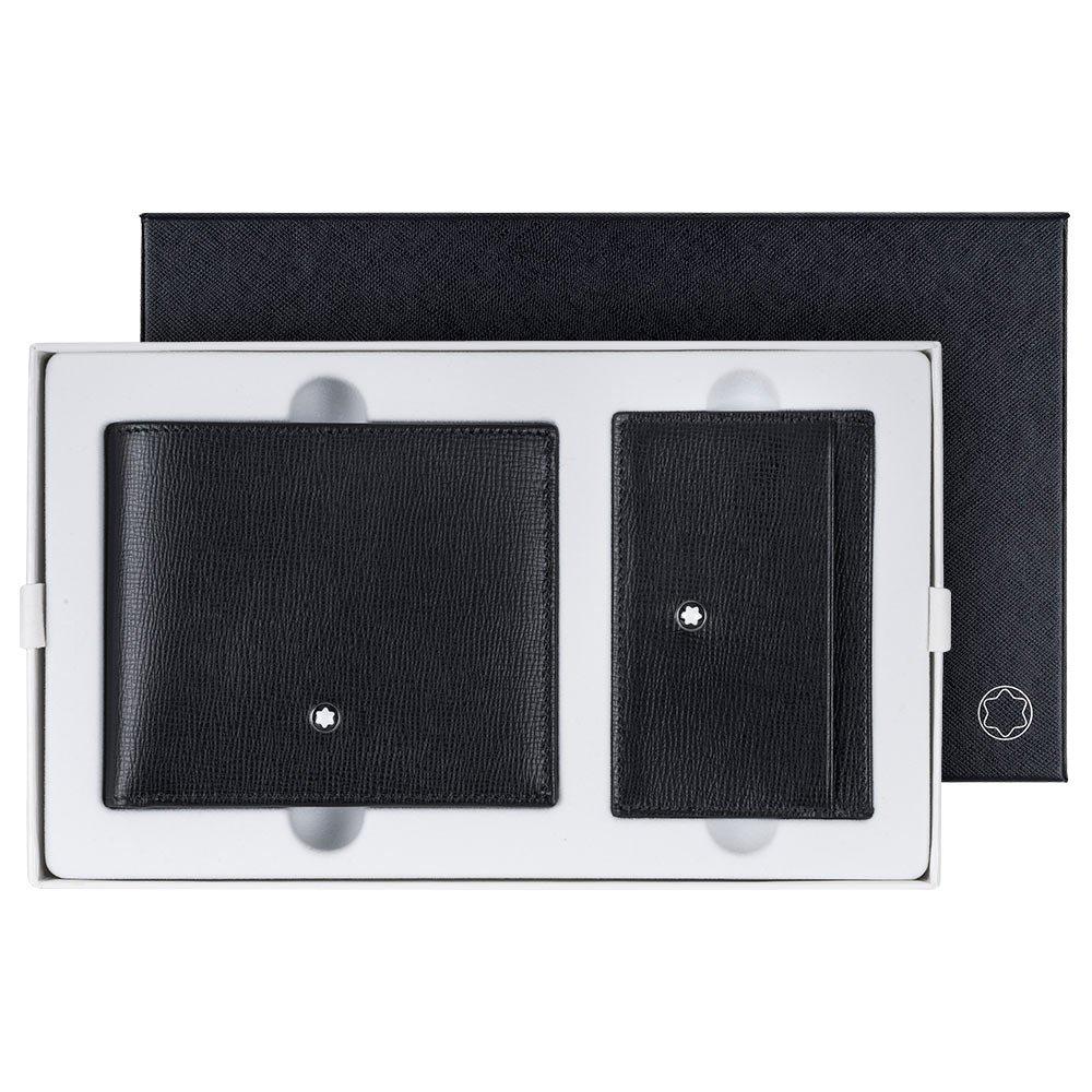 Montblanc wallet and pocket holder Black Leather Gift Set 116841