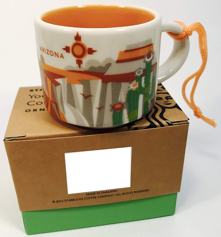 Starbucks Arizona You Are Here Collection Ceramic Coffee Mug Demitasse Ornament 2 oz