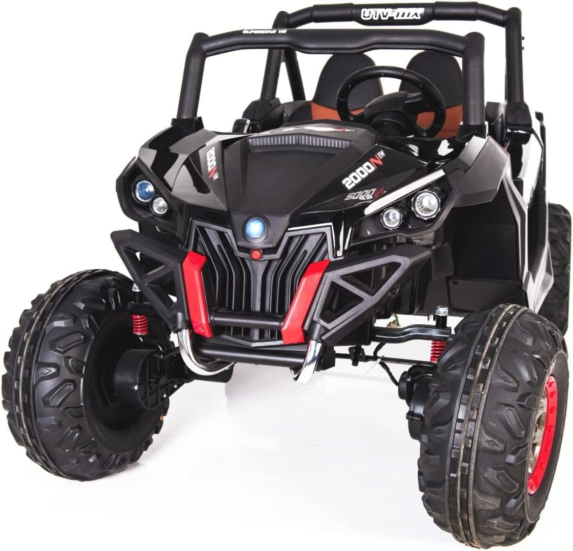 CARS12V Coche ELÉCTRICO para NIÑOS RSX Buggy 24V 2 PLAZAS RC (Negro)