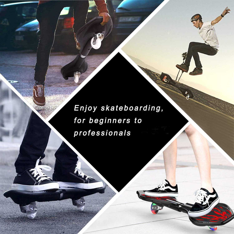 EiDevo Waveboard Double Wheel Balance Scooter Roulette Board avec LED Flash Wheel Wave Board Cadeau danniversaire Antid/érapant Snake Board Convient Aux Dnfants et Adolescents D/ébutants Skateboard