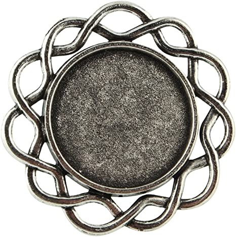 17mm inner diameter; Tray 12mm in diameter Size Ring Pandahall 10pcs DIY Antique Bronze Adjustable Brass Sieve Ring Bases