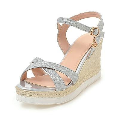 20dfcdd4bec New-Loft Girls Wedding Party Bling Platform Sandals high Heel Sandale Femme  Women Ankle Strap
