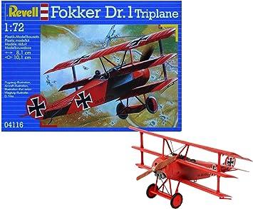 Revell- Fokker DR. 1 Maqueta Triplano, 10+ Años, Multicolor, 8,1 cm (04116): Amazon.es: Juguetes y juegos