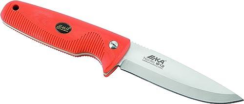 EKA Nordic W12 Fixed Blade Hunting Knife Orange Handle