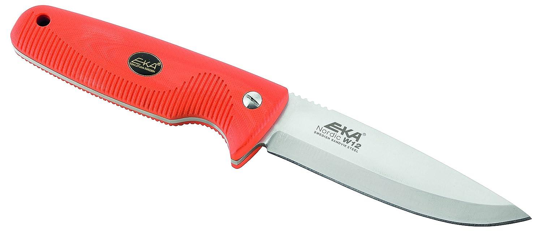 Amazon.com: Eka Nordic W12 cuchillo de caza, Anaranjado ...