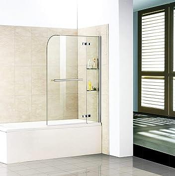 Mampara Mampara de ducha pared para bañera: Amazon.es: Bricolaje y herramientas