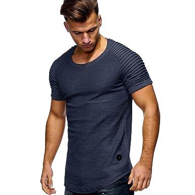 221539f92a0e8e VEMOW Heißer Verkauf Sommer Männer Sport T-Shirt Slim Fit O-Ausschnitt  Kurzarm Muscle