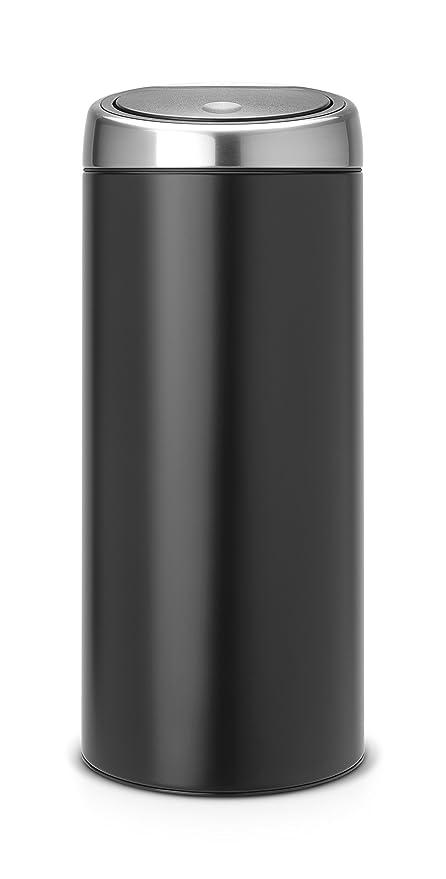 Brabantia Touch Bin 30 Liter.Brabantia Touch Bin 30 L Matte Black With Fingerprint Proof Lid