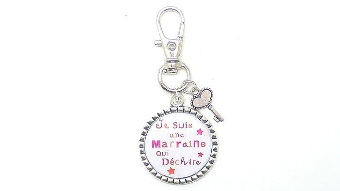 6f2643215911 un porte clé, bijou de sac, cadeau argenté