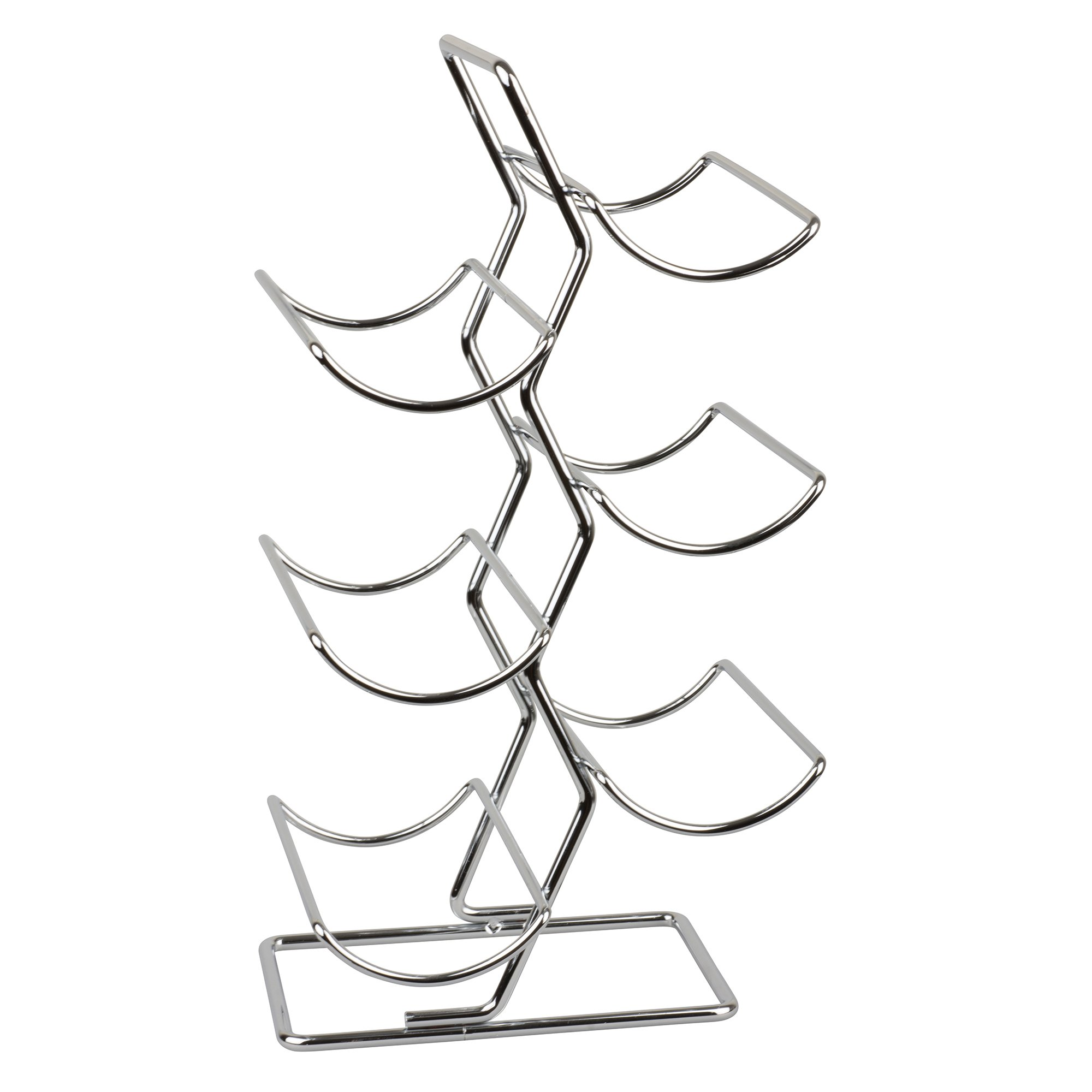 It's Useful Standing Wine Rack Holder – Hold, Store and Display Up to 6 Wine Bottles – Sleek Metal Chrome Stand