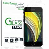 "amFilm Glass Screen Protector for iPhone SE 2020, iPhone 8, 7, 6S, 6 (4.7"")(2 Pack) Halo Free Tempered Glass Screen Protector"