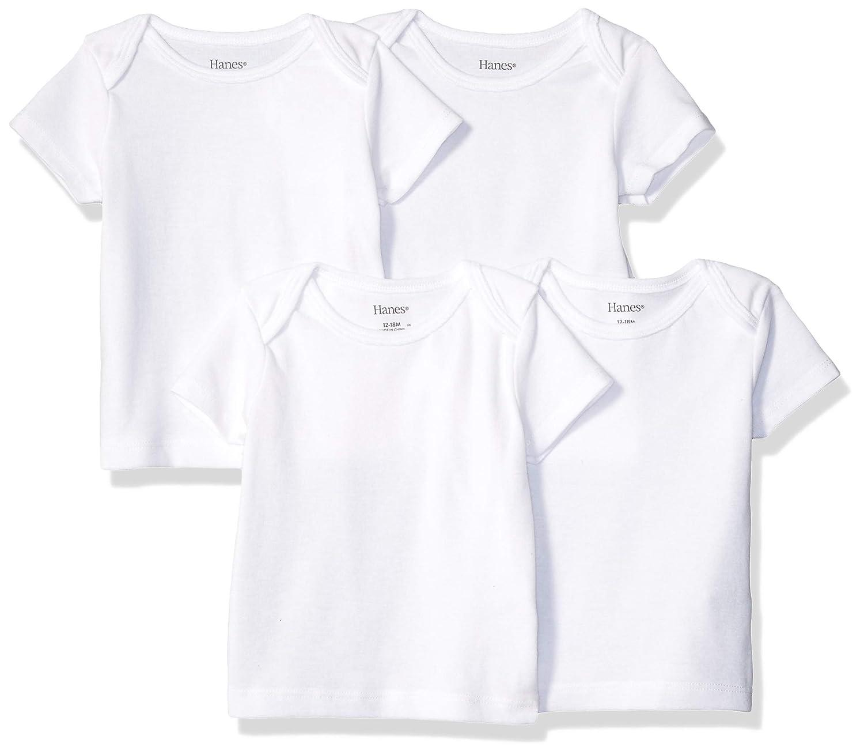 Hanes Girls Ultimate Baby Flexy 4 Pack Short Sleeve Crew Tees