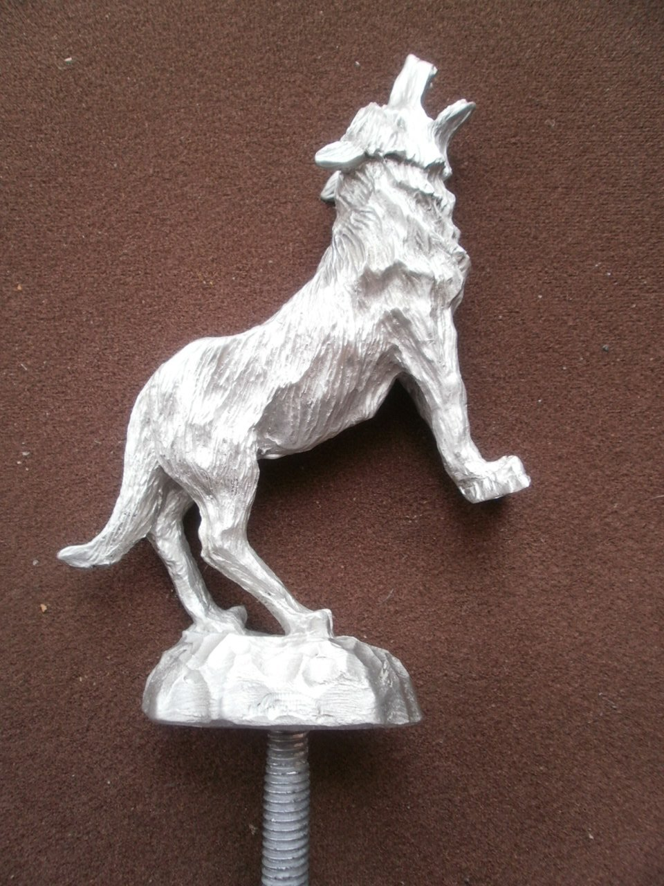 Rare Howling Wolf, Coyote, Car Hood Ornament