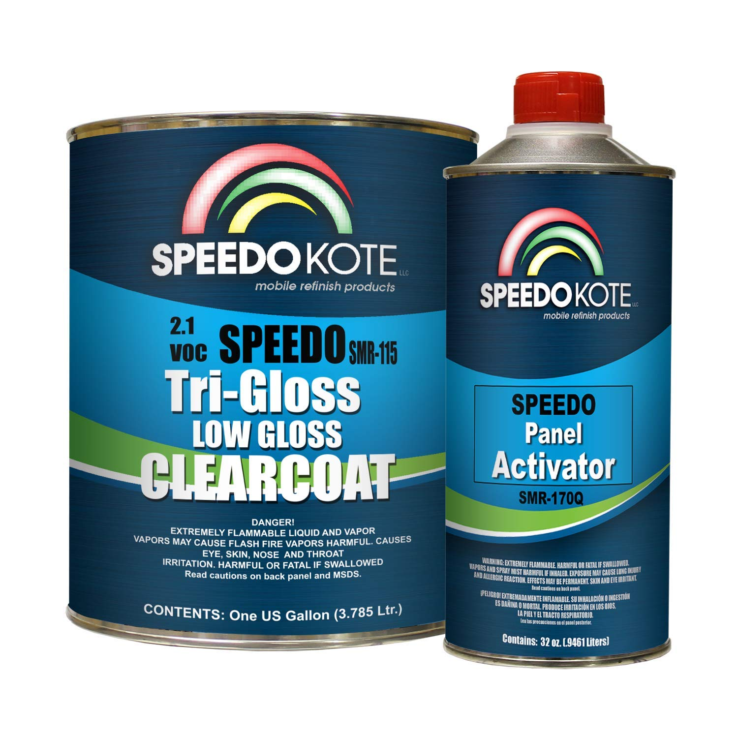 Speedokote SMR-115/170-K-S - Low Gloss 2.1 VOC urethane clear coat, gallon kit Clearcoat with slow speed activator