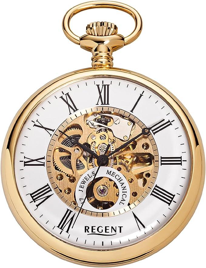 Regent P558 - Reloj de bolsillo, 50 mm, mecanismo visto: Amazon.es: Relojes