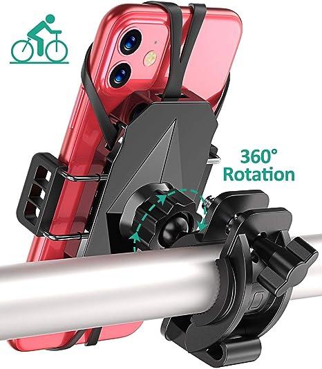 Cocoda Soporte Movil Bicicleta, 360° Rotación Soporte Movil Moto Ajustable Antivibración para Bicicleta y Scooter, Soporte Telefono Bici Compatible con iPhone SE/11 Pro Max/8/7, Samsung S20/S10 Plus: Amazon.es: Deportes y aire libre