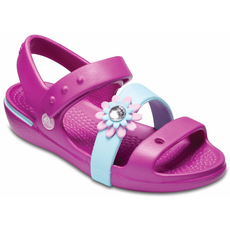 kup najlepiej nowy design nowe obrazy Crocs Girls Keeley Petal Charm Sandal PS Vibrant Violet