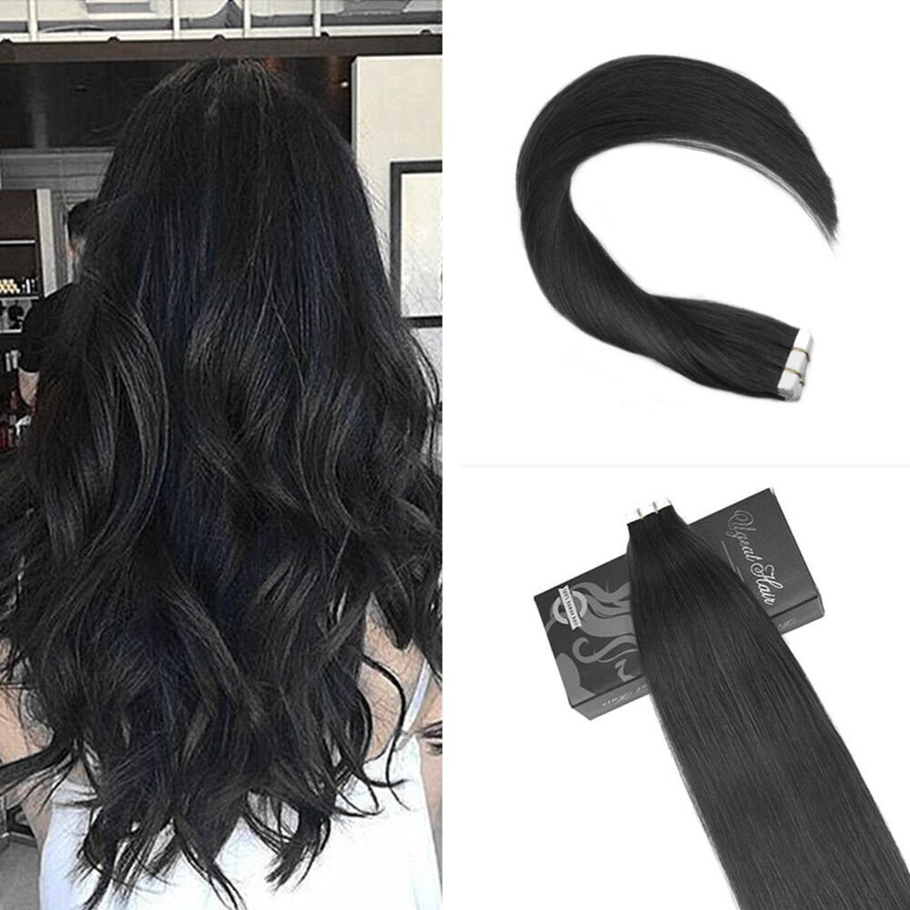 Amazon Ugeat 18inch Tape In Real Human Hair Extensions Remy